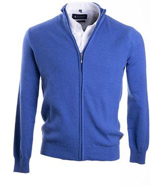 knap vest met rits in modisch blauw