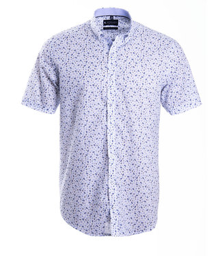 zomerhemd met subtiel blauw motief