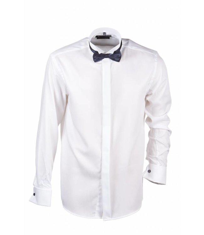 FORMEN wit smokinghemd met col cassé, slim fit