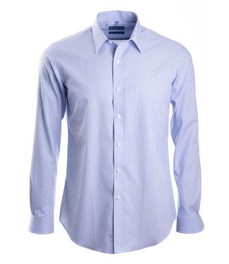 lichtblauw gestreept hemd, slim fit