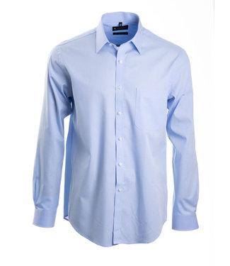 FORMEN lichtblauw hemd poplin katoen