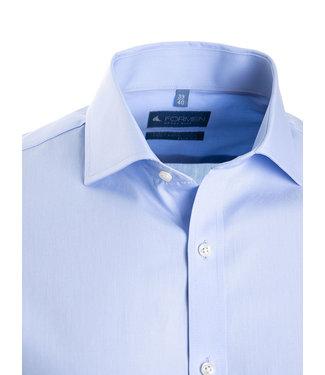 FORMEN lichtblauw hemd in poplin katoen, slim fit