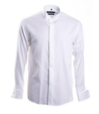 wit smoking hemd met col cassé