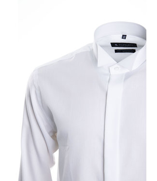 FORMEN Wit smoking hemd met col cassé - Regular fit