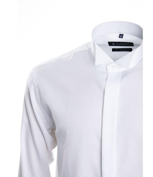 FORMEN wit smoking hemd met col cassé