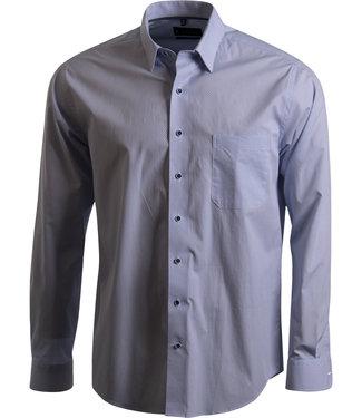 lichtblauw hemd met button under kraag