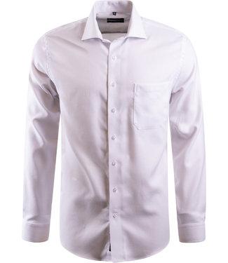 FORMEN Effen wit hemd in stevig katoen