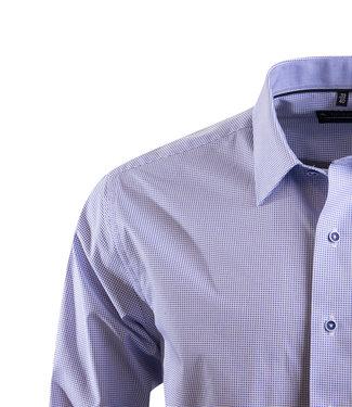 FORMEN lichtblauw overhemd met fijn motief