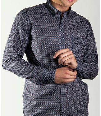 FORMEN slim fit  hemd met knappe print