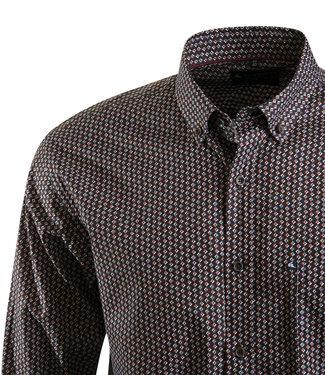 hemd met kleurig retro motief