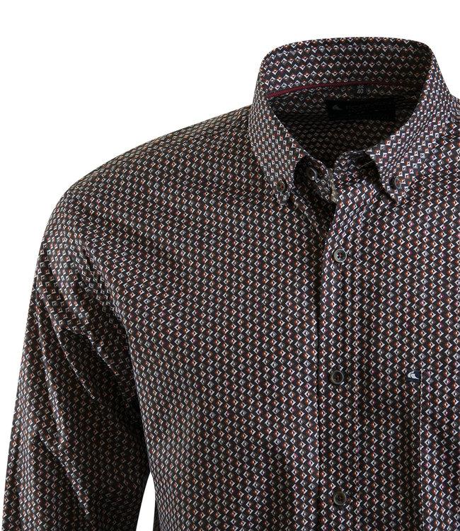 FORMEN hemd met kleurig retro motief
