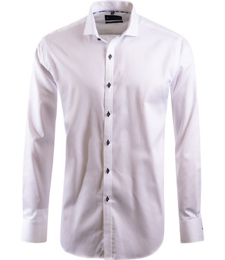 effen wit overhemd, easy-care katoen