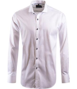 FORMEN effen wit overhemd, easy-care katoen