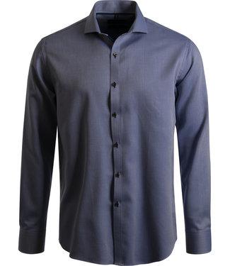 FORMEN donkerblauw hemd met structuur