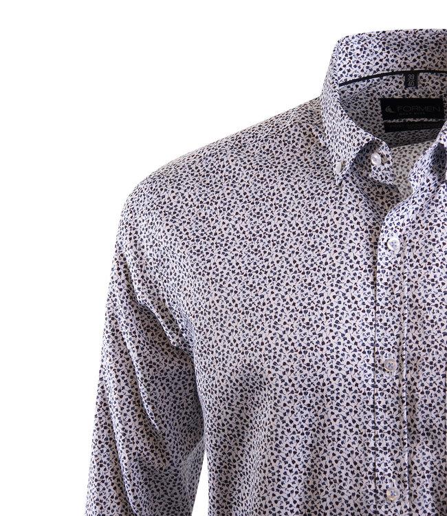 wit hemd met all-over print