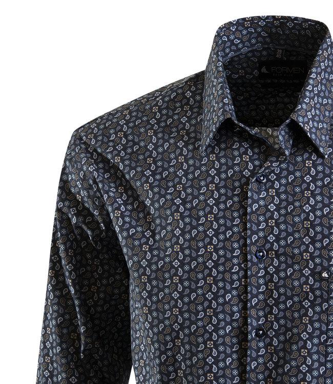 hemd met mooie kasjmier print