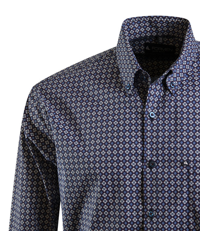 overhemd met tegel print