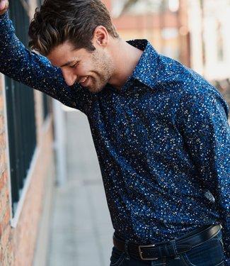 FORMEN popeline hemd met fleurig patroon
