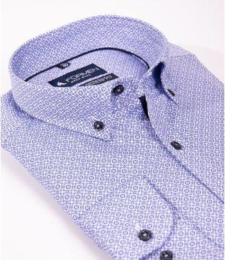 FORMEN stijlvol hemd met blauw motief