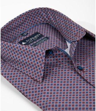 FORMEN bordeaux overhemd, regular fit