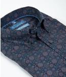blauw hemd met elegante print