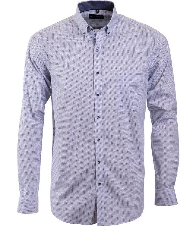 lichtblauw overhemd met fijn motief