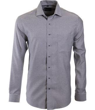 FORMEN donkergrijs business shirt, Italiaanse kraag