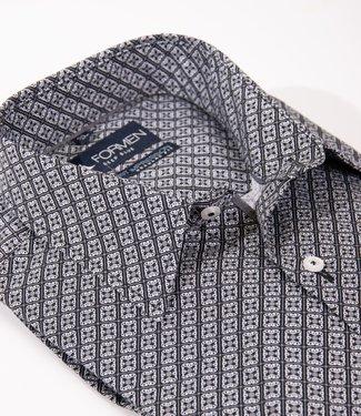 FORMEN zwart hemd met knap motief