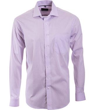 FORMEN lila business hemd met Italiaanse kraag