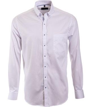 FORMEN wit overhemd met button down kraag