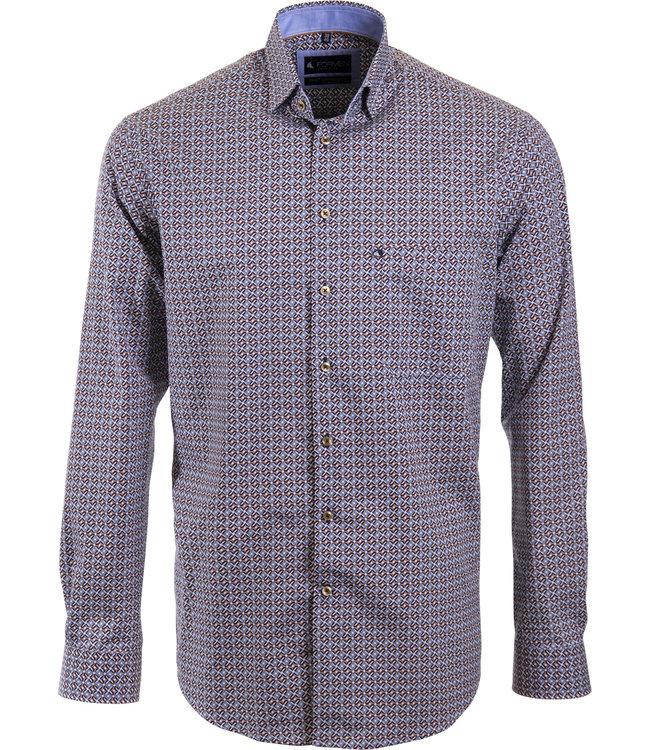 knap overhemd met all over print