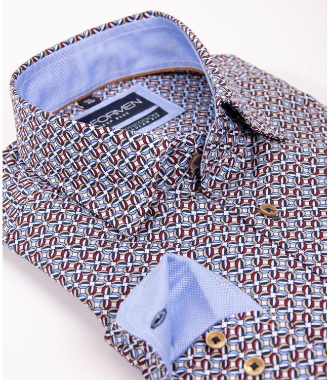 FORMEN knap overhemd met all over print
