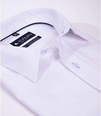 FORMEN wit overhemd met Kent kraag