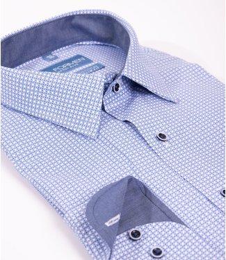 FORMEN slim overhemd met all over print