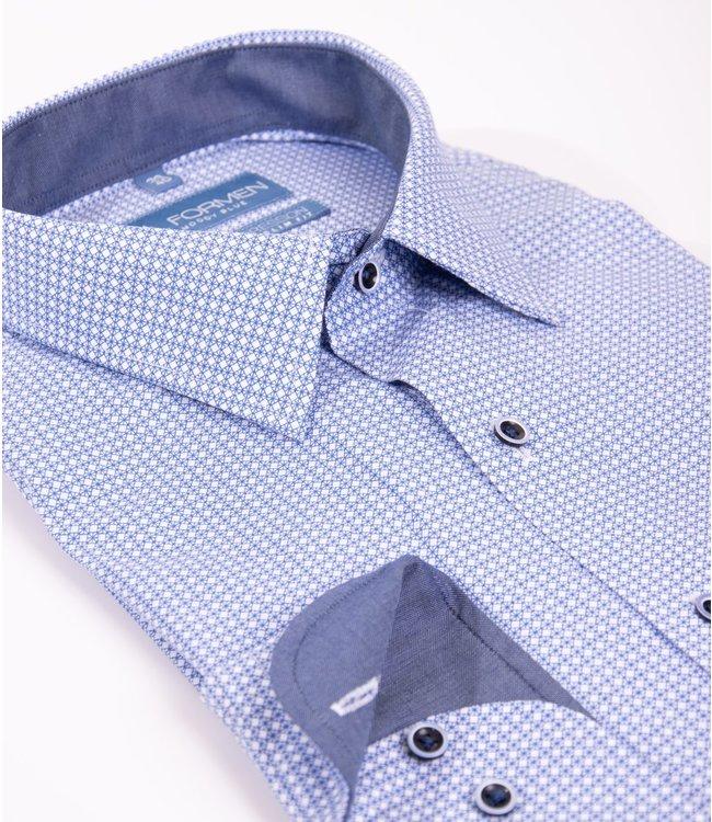slim overhemd met all over print