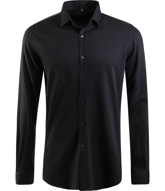timeless design c9eb1 fc7c7 antraciet tricot hemd, slim fit