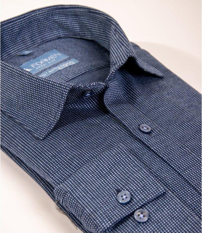 best cheap 9cb8a b0b2e blauw tricot hemd, slim fit
