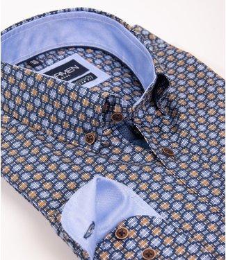 regular hemd met aparte print