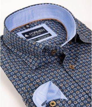 FORMEN overhemd met geometrische print