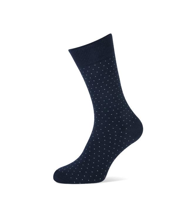 duopack sokken navy met stippen