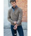 FORMEN trui met opstaande kraag, 80% wol