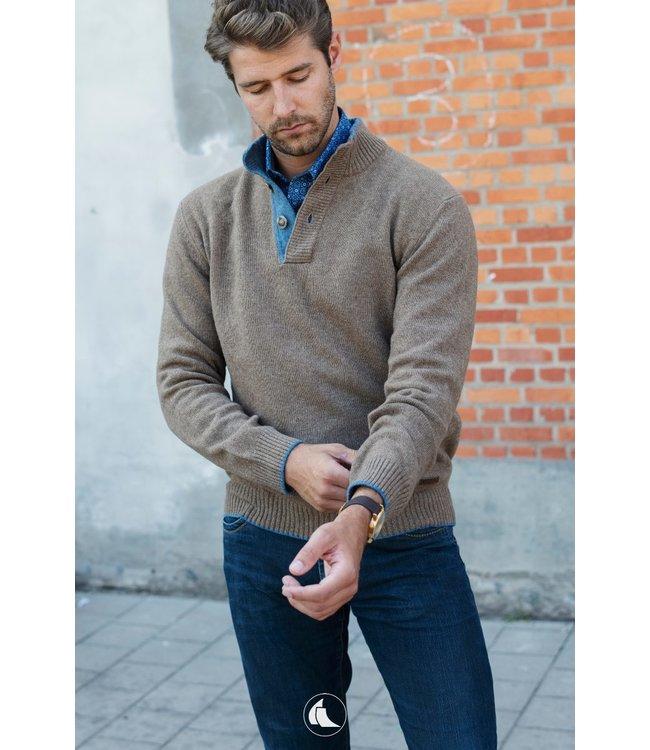 trui met opstaande kraag, 80% wol