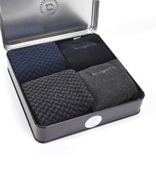 Giftbox herensokken (4 paar) zwart