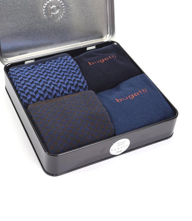 Giftbox herensokken (4 paar) blauw