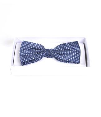 zijde strik met blauw motief