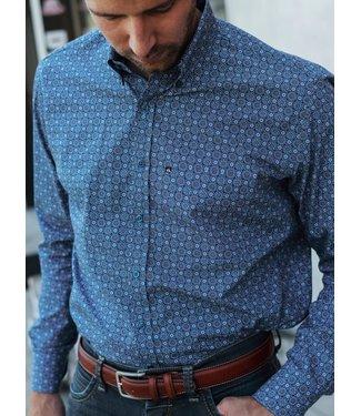 slim fit hemd met knap motief