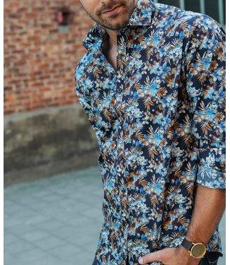 opvallend shirt met Italiaanse kraag