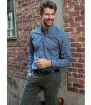 FORMEN knap hemd met blad print