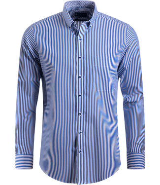 FORMEN casual gestreept hemd - SLIM