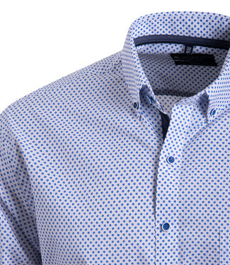 FORMEN wit hemd met blauw motief